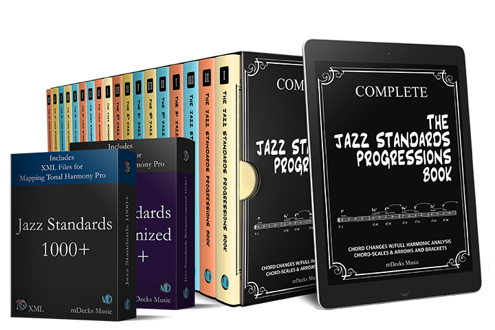 The Jazz Standards Progressions Book in 18 Volumes (PDF & Paperback